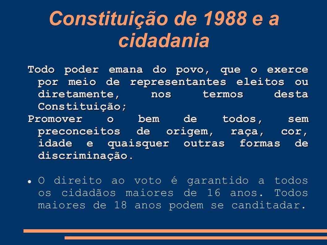 Constituição de 1988 e a cidadania