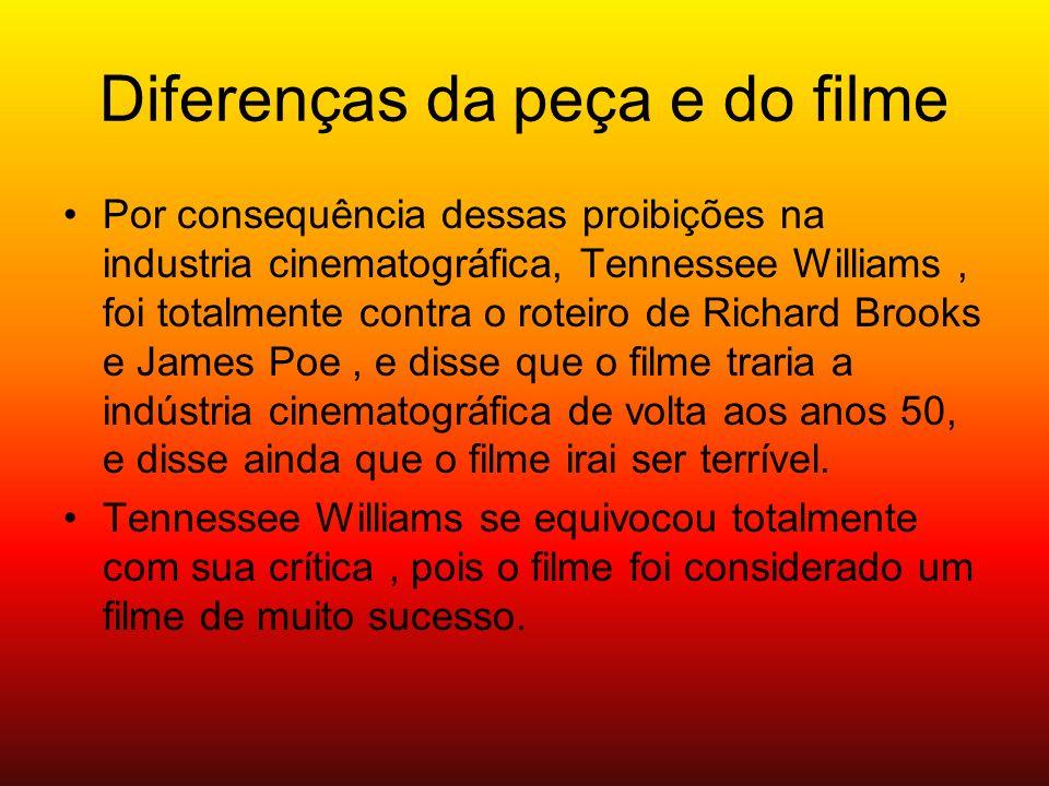 Diferenças da peça e do filme