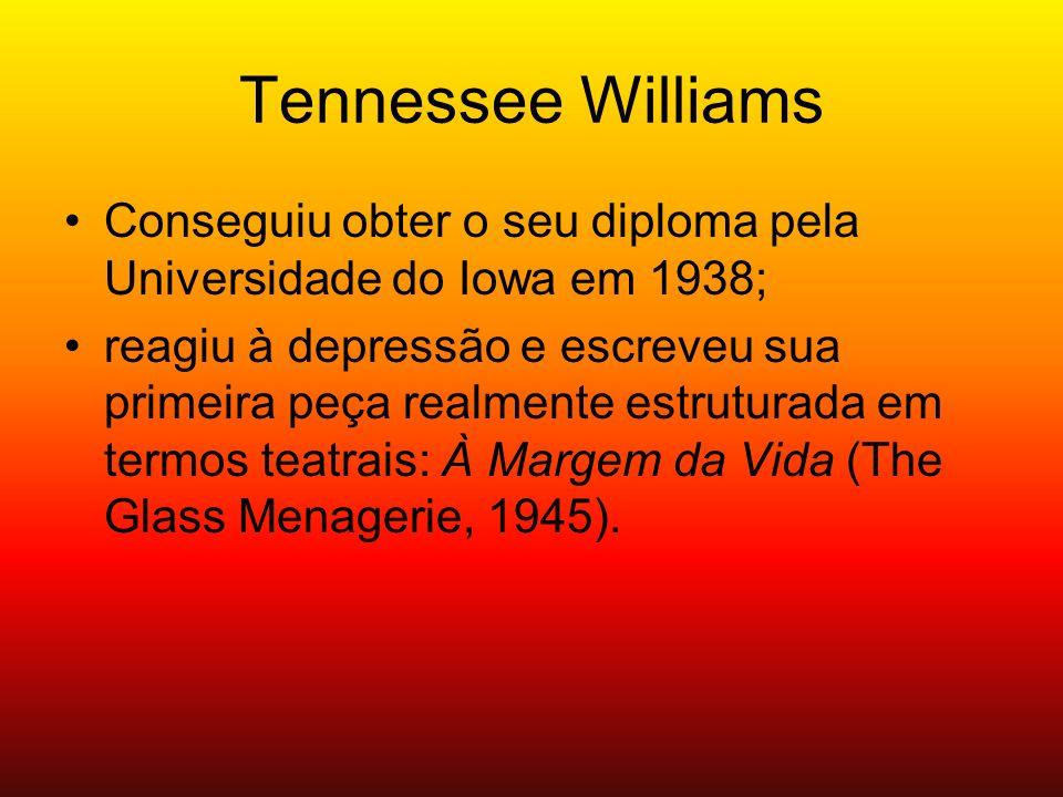 Tennessee Williams Conseguiu obter o seu diploma pela Universidade do Iowa em 1938;