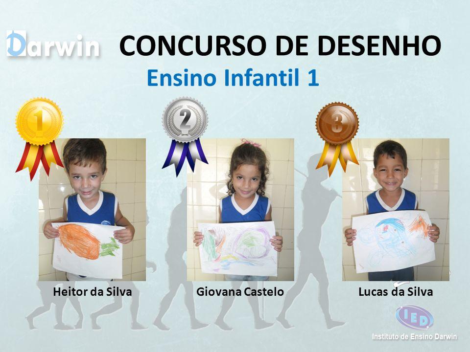 CONCURSO DE DESENHO Ensino Infantil 1 Heitor da Silva Giovana Castelo