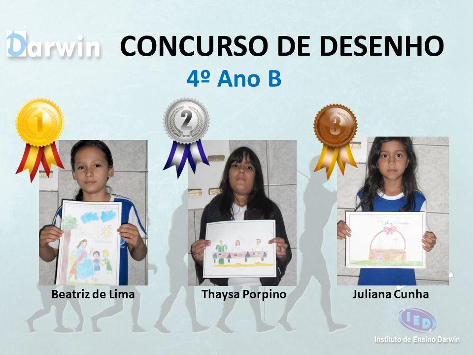 CONCURSO DE DESENHO 4º Ano B Beatriz de Lima Thaysa Porpino