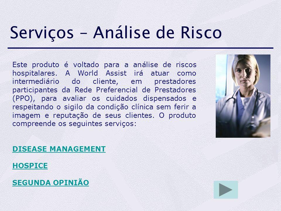 Serviços – Análise de Risco