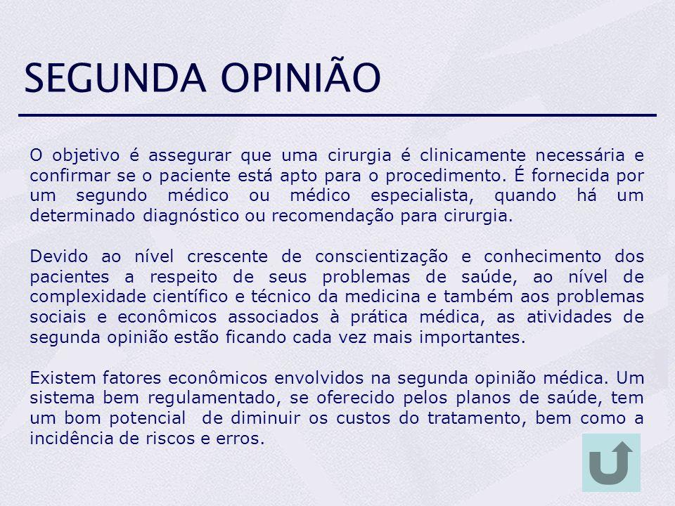 SEGUNDA OPINIÃO