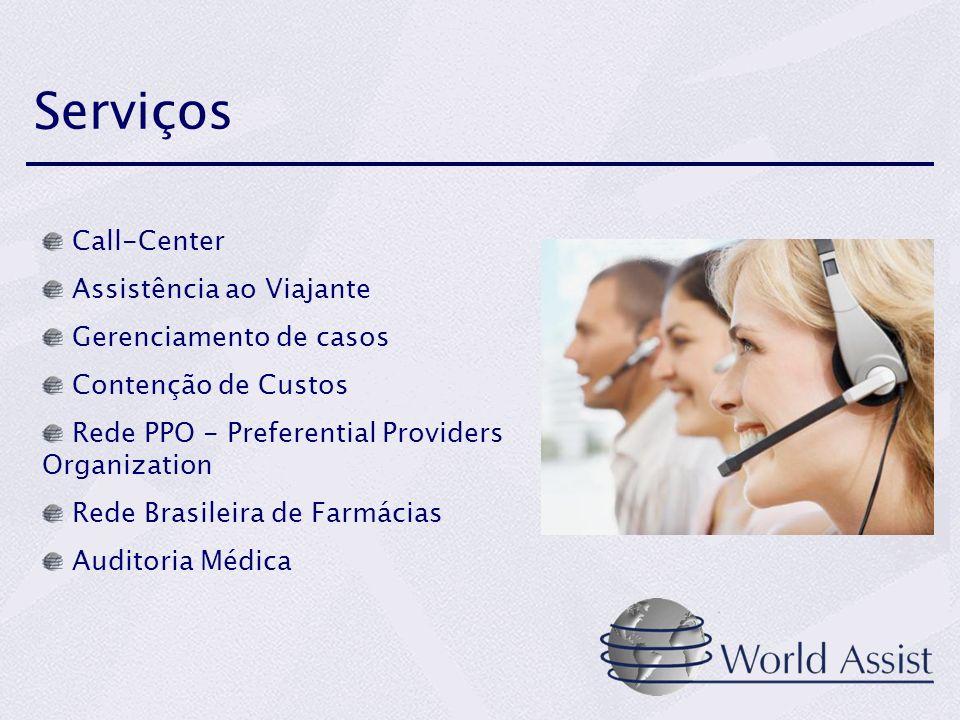 Serviços Call-Center Assistência ao Viajante Gerenciamento de casos