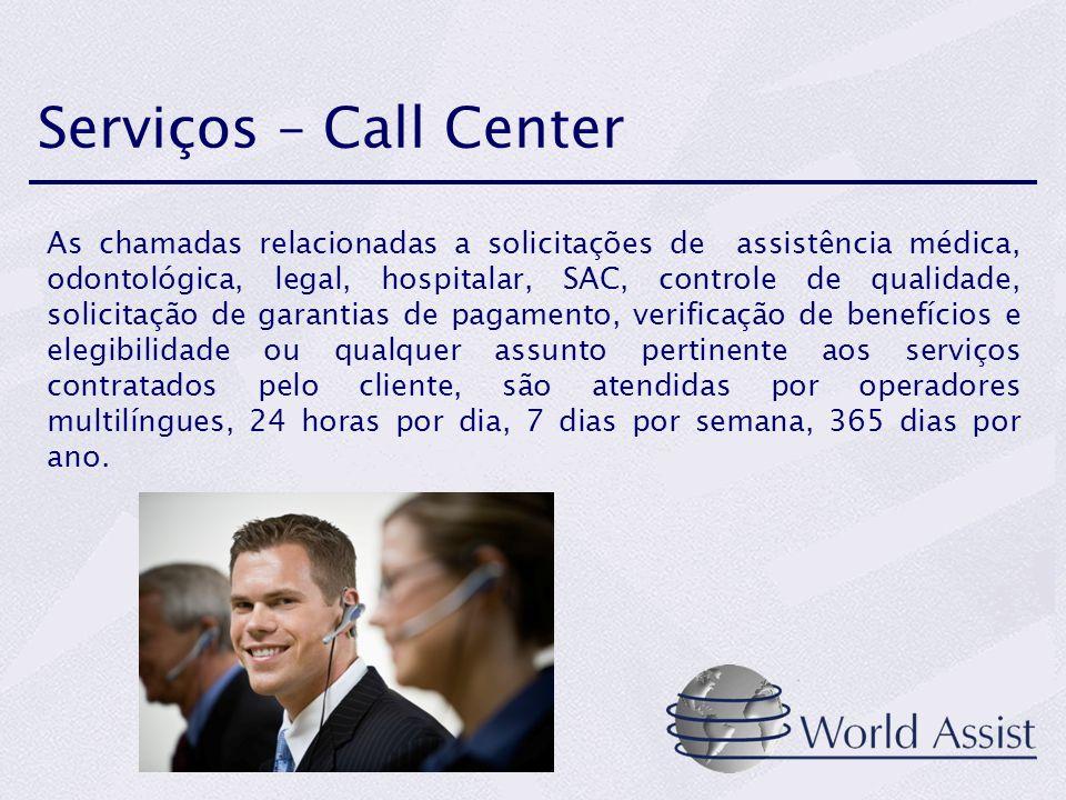 Serviços – Call Center