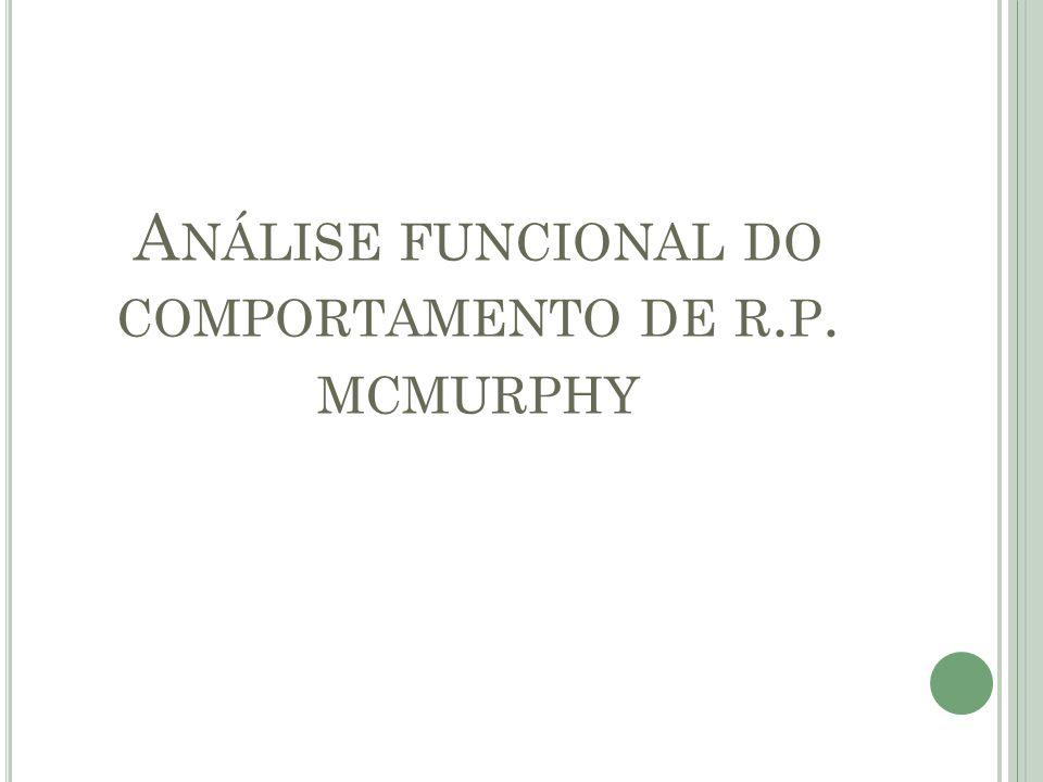 Análise funcional do comportamento de r.p. mcmurphy