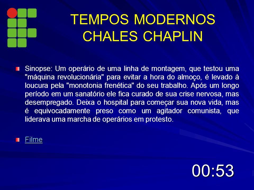 TEMPOS MODERNOS CHALES CHAPLIN