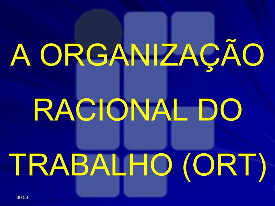 A ORGANIZAÇÃO RACIONAL DO TRABALHO (ORT)