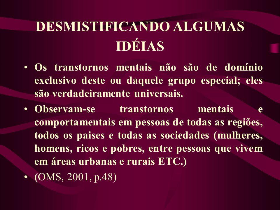 DESMISTIFICANDO ALGUMAS IDÉIAS