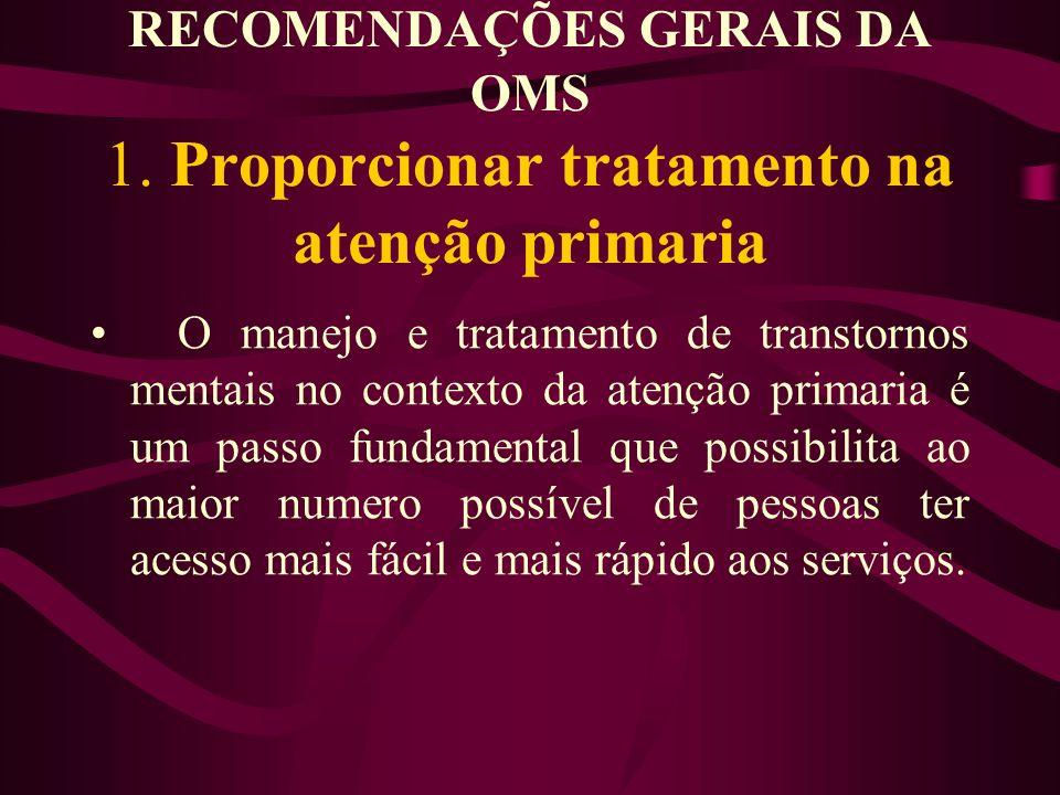 RECOMENDAÇÕES GERAIS DA OMS 1