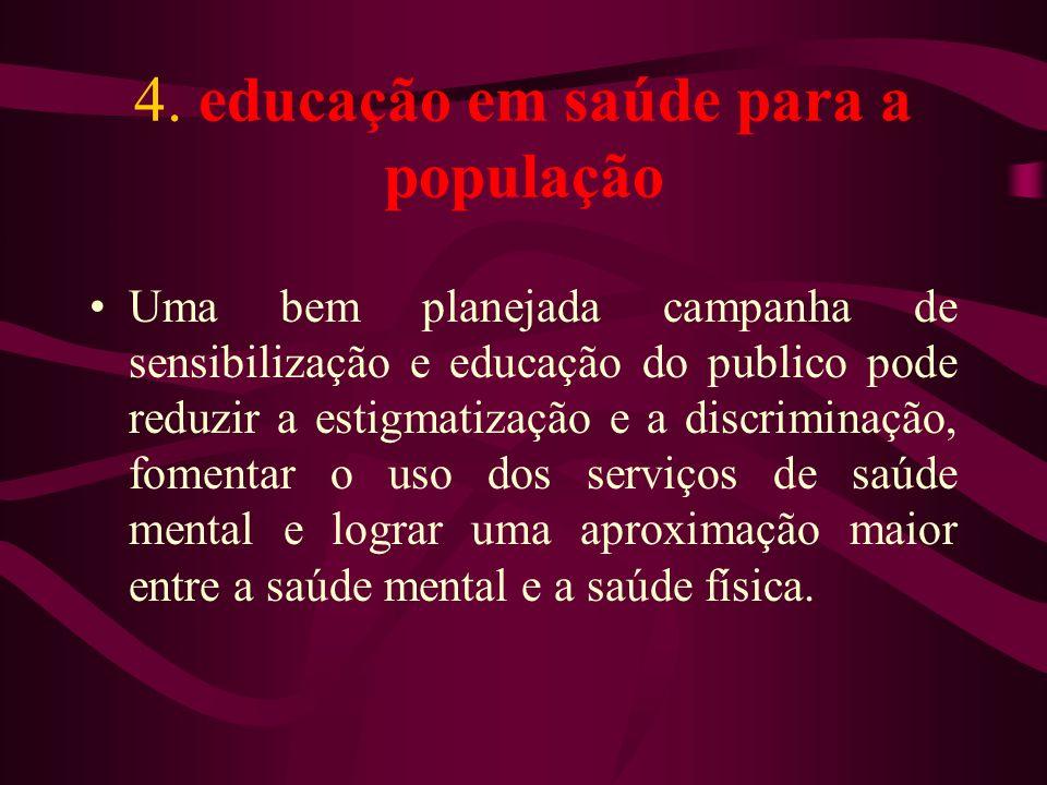 4. educação em saúde para a população