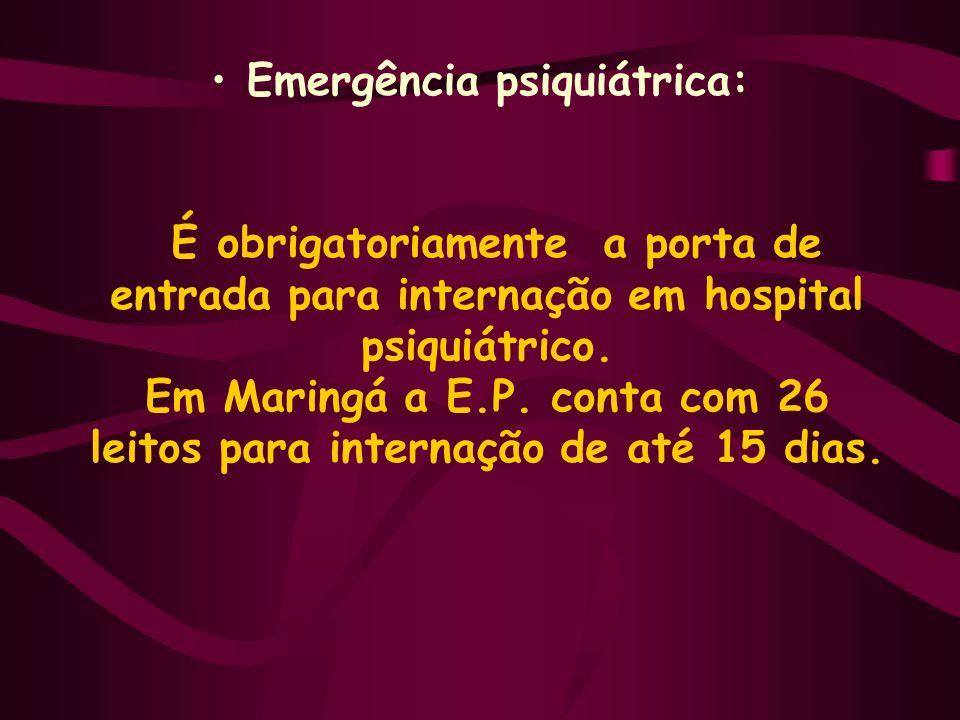 Emergência psiquiátrica: