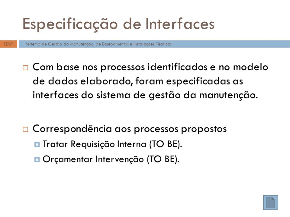 Especificação de Interfaces