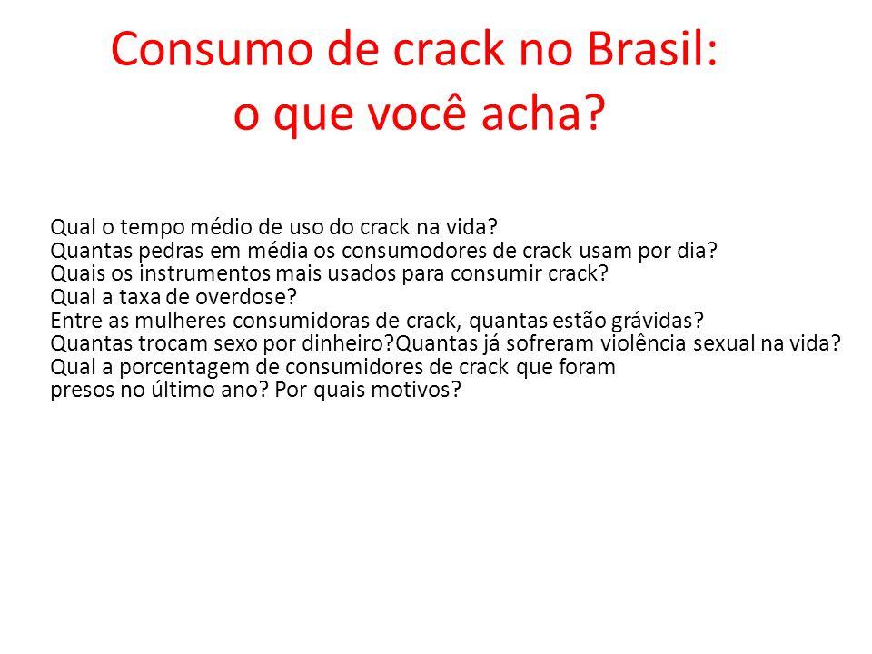 Consumo de crack no Brasil: