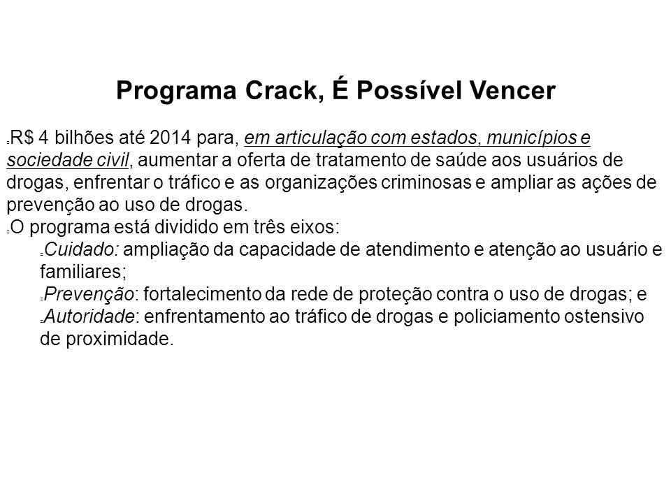 Programa Crack, É Possível Vencer