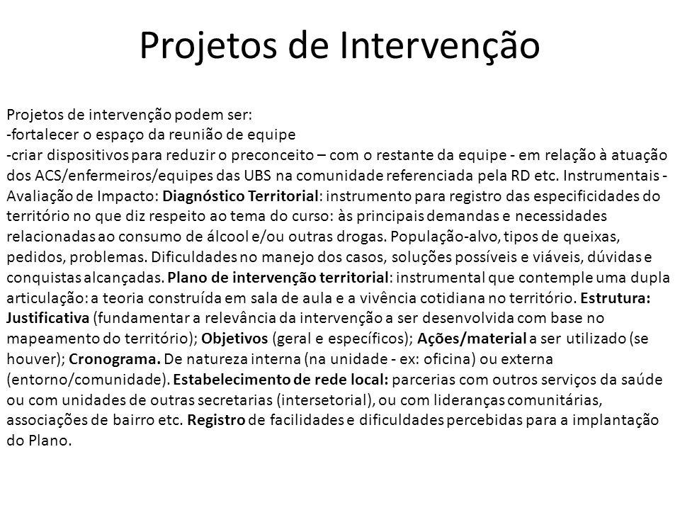 Projetos de Intervenção