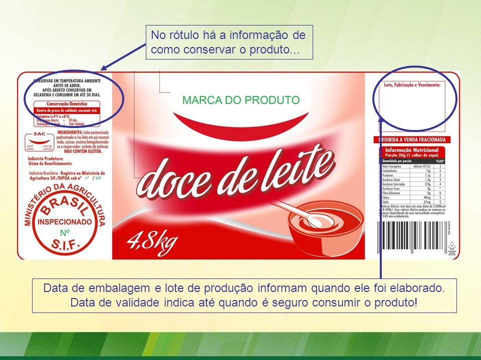 Data de validade indica até quando é seguro consumir o produto!