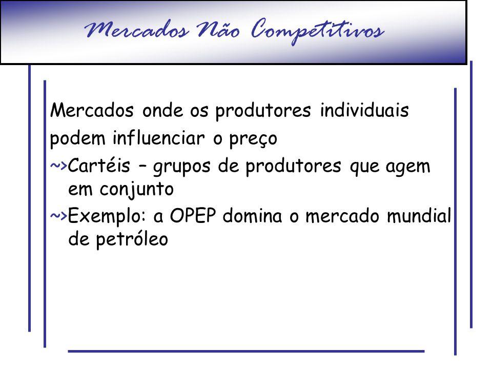 Mercados Não Competitivos