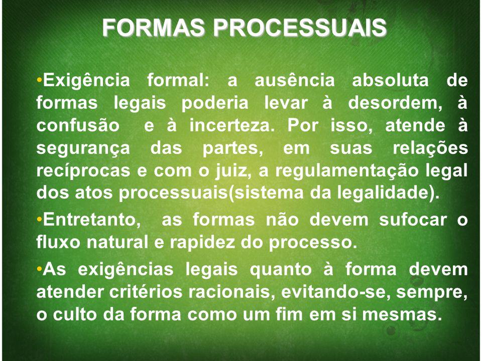 FORMAS PROCESSUAIS