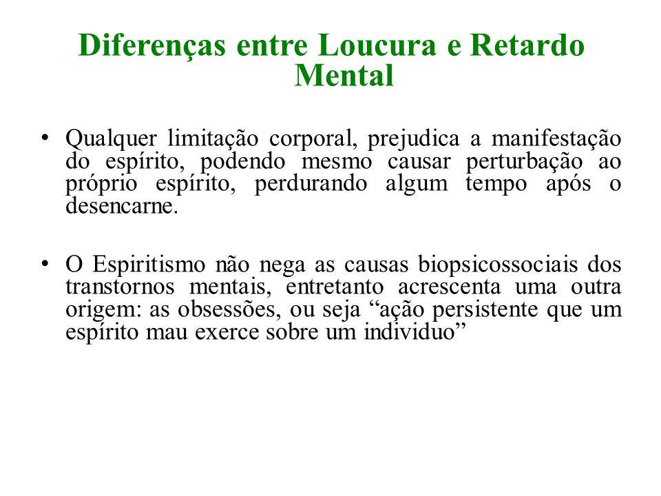 Diferenças entre Loucura e Retardo Mental