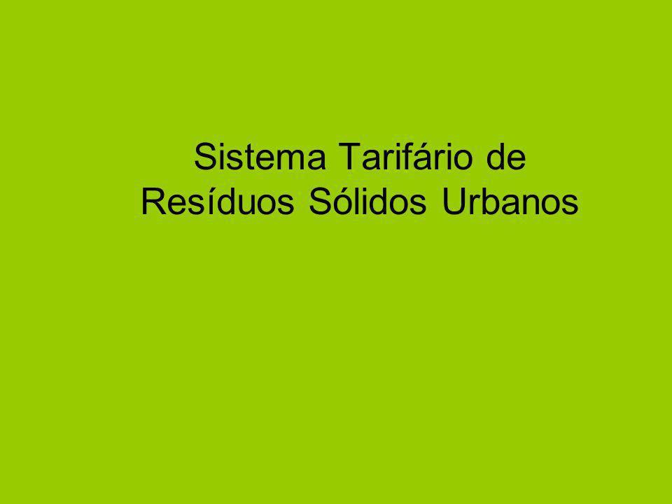 Sistema Tarifário de Resíduos Sólidos Urbanos