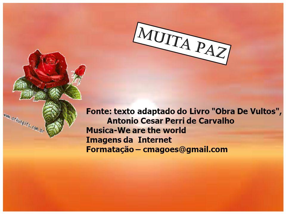 Muita Paz Fonte: texto adaptado do Livro Obra De Vultos ,