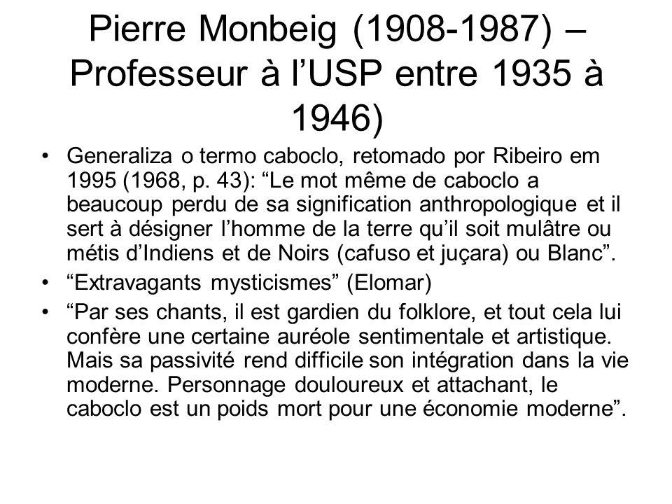 Pierre Monbeig (1908-1987) – Professeur à l'USP entre 1935 à 1946)