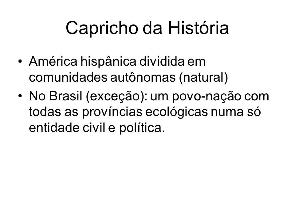 Capricho da História América hispânica dividida em comunidades autônomas (natural)