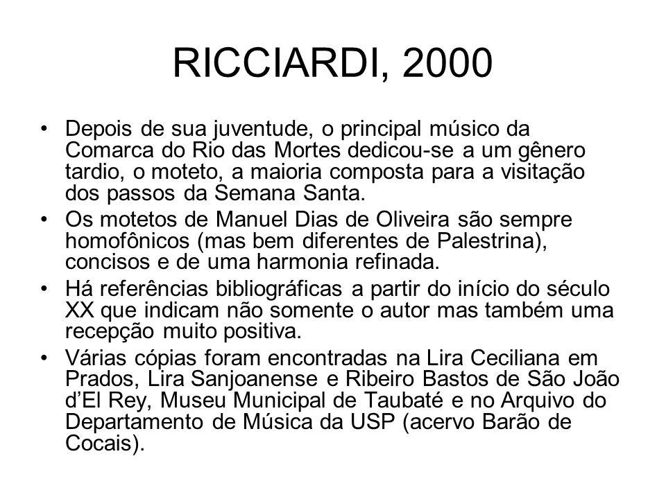 RICCIARDI, 2000