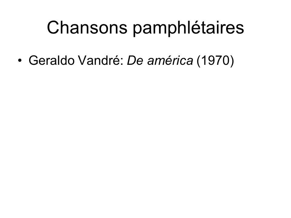 Chansons pamphlétaires