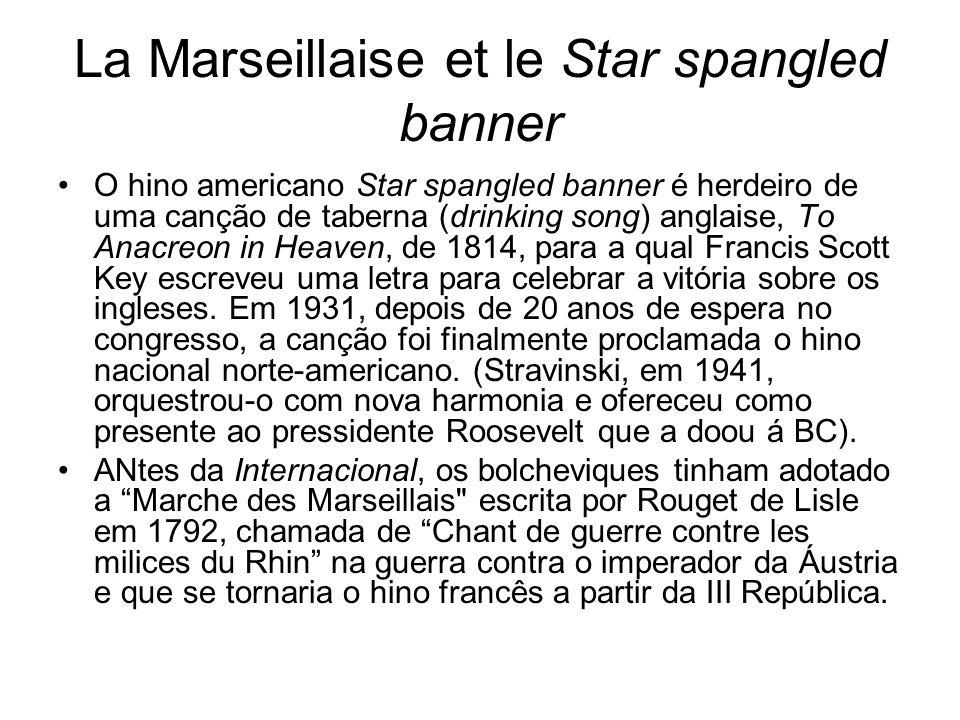 La Marseillaise et le Star spangled banner