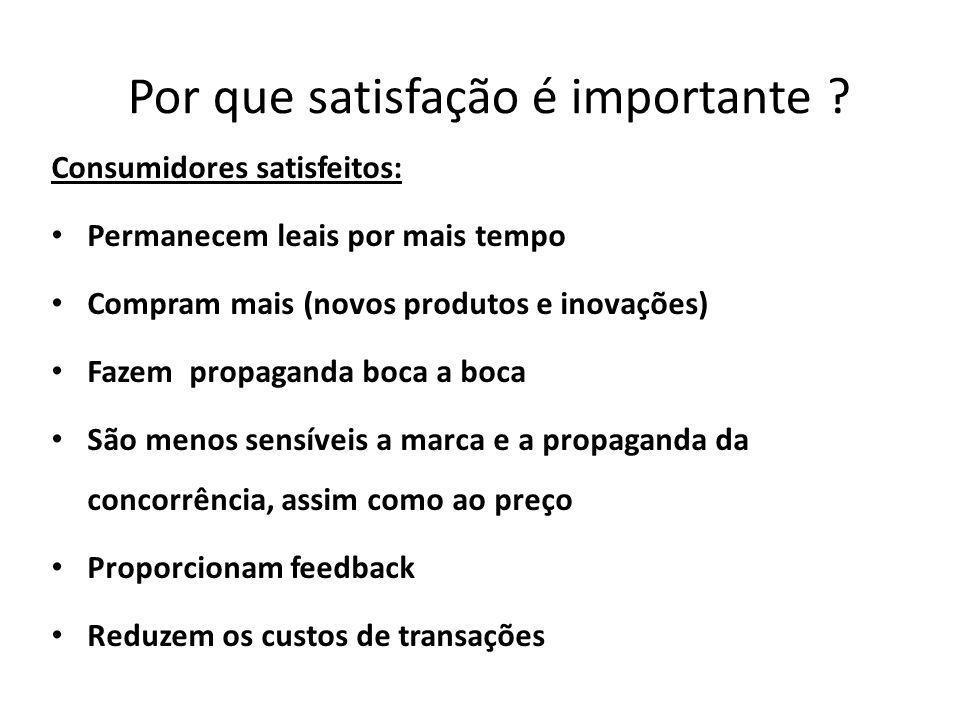 Por que satisfação é importante