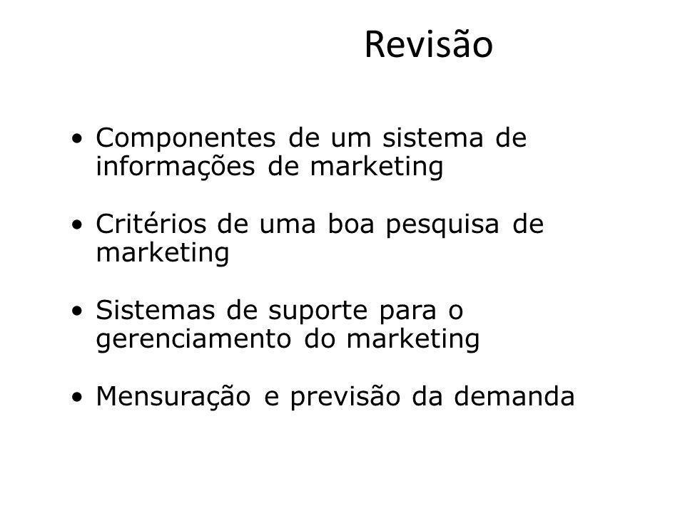 Revisão Componentes de um sistema de informações de marketing