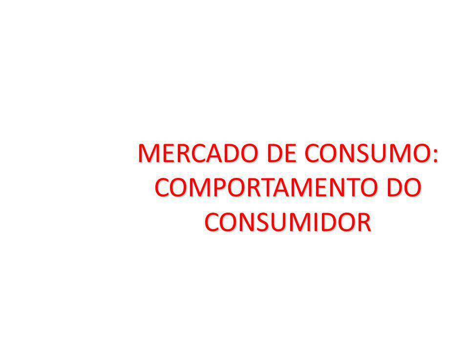 MERCADO DE CONSUMO: COMPORTAMENTO DO CONSUMIDOR