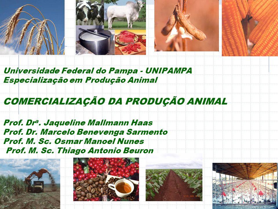 Universidade Federal do Pampa - UNIPAMPA Especialização em Produção Animal COMERCIALIZAÇÃO DA PRODUÇÃO ANIMAL Prof.