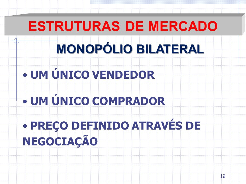 ESTRUTURAS DE MERCADO MONOPÓLIO BILATERAL