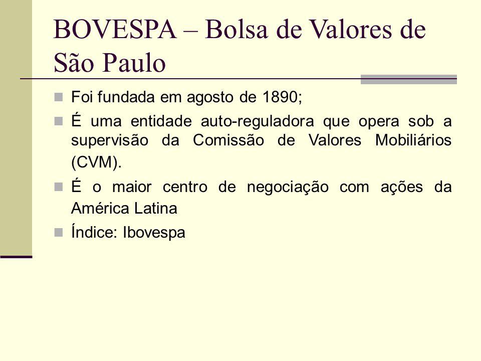 BOVESPA – Bolsa de Valores de São Paulo
