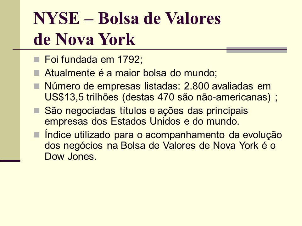 NYSE – Bolsa de Valores de Nova York