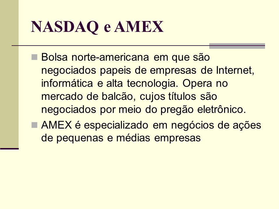 NASDAQ e AMEX