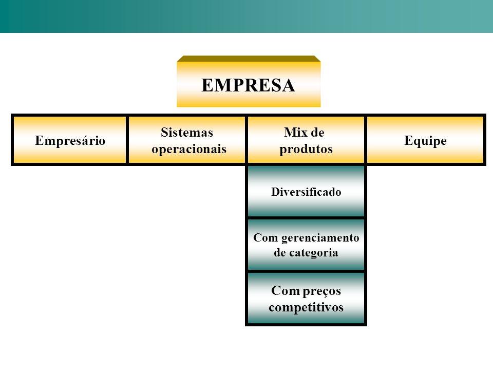 EMPRESA Empresário Sistemas operacionais Mix de produtos Equipe