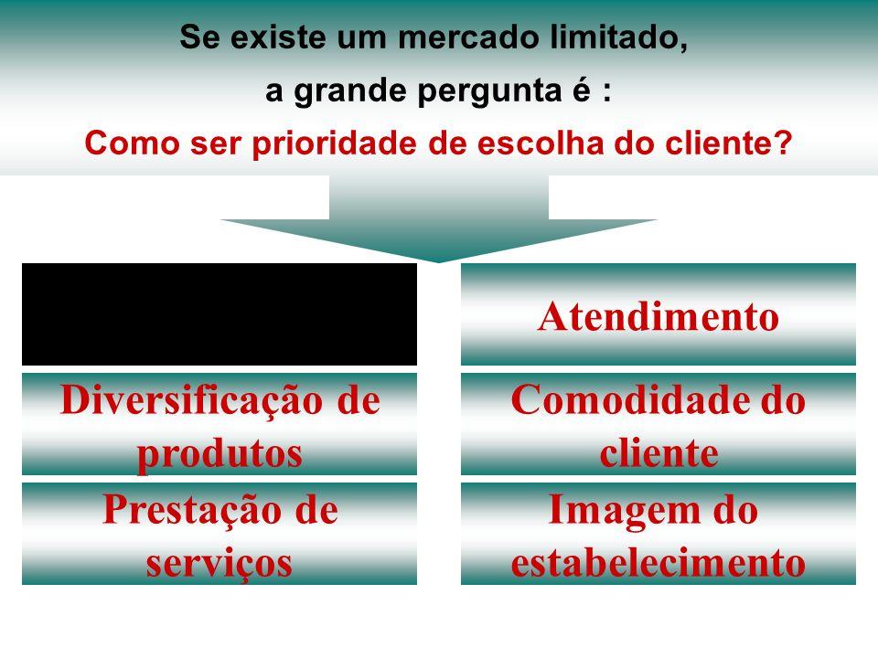 Preço Atendimento Diversificação de produtos Comodidade do cliente