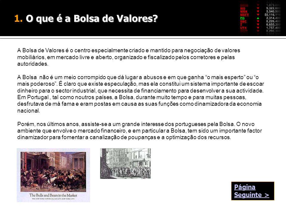 1. O que é a Bolsa de Valores