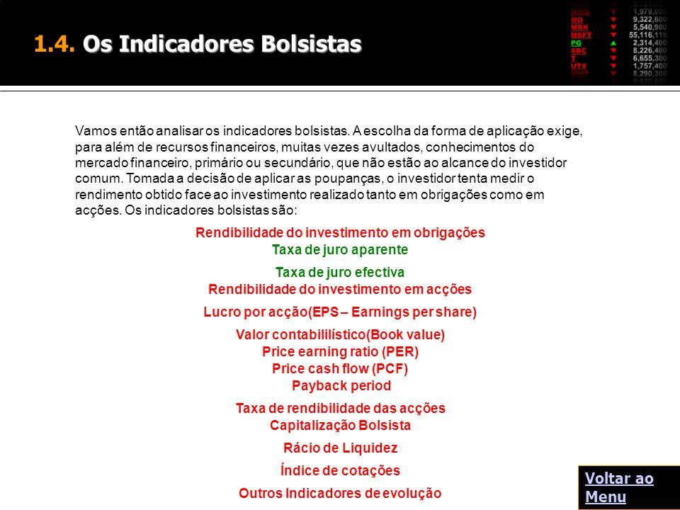 1.4. Os Indicadores Bolsistas