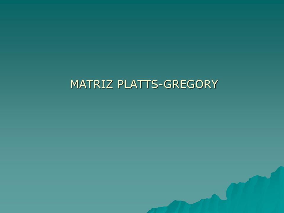 MATRIZ PLATTS-GREGORY