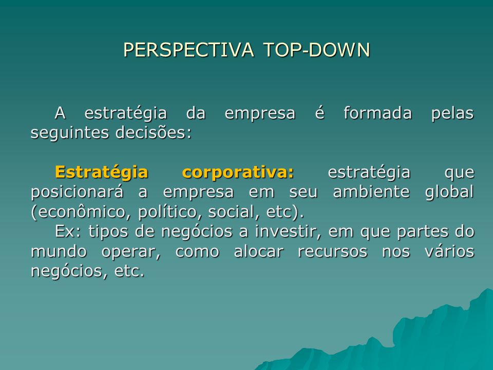PERSPECTIVA TOP-DOWN