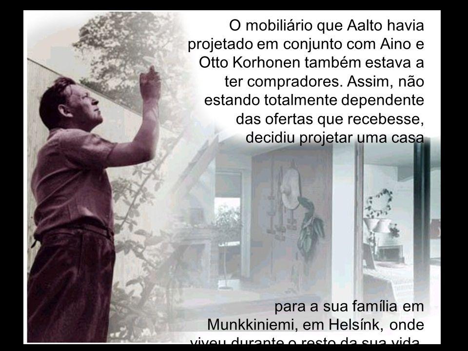 O mobiliário que Aalto havia projetado em conjunto com Aino e Otto Korhonen também estava a ter compradores. Assim, não estando totalmente dependente das ofertas que recebesse, decidiu projetar uma casa