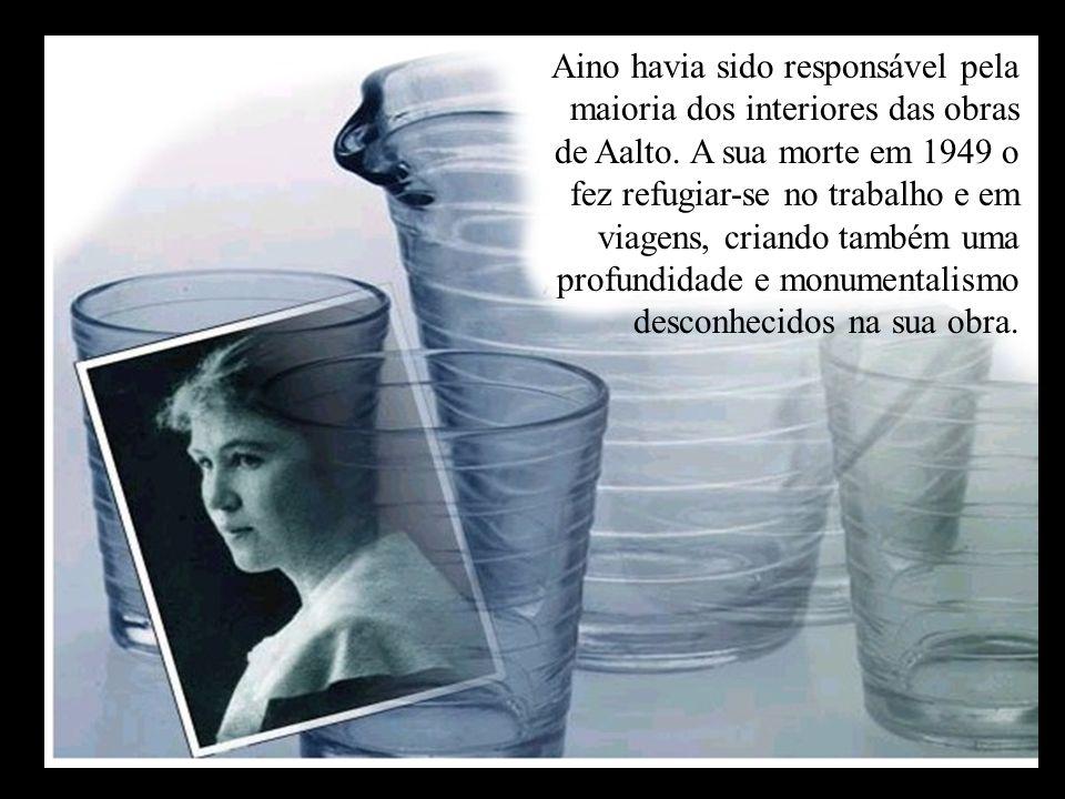 Aino havia sido responsável pela maioria dos interiores das obras de Aalto.