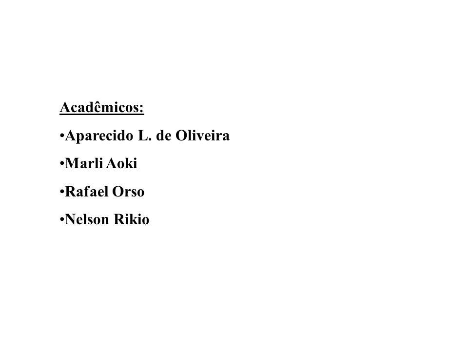 Acadêmicos: Aparecido L. de Oliveira Marli Aoki Rafael Orso Nelson Rikio