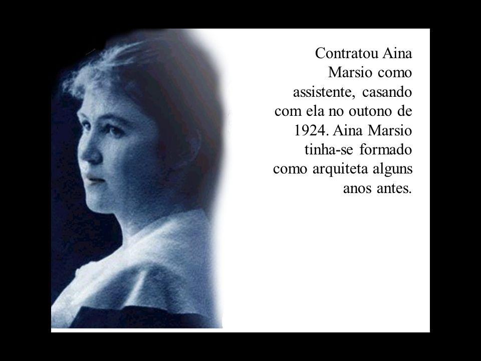 Contratou Aina Marsio como assistente, casando com ela no outono de 1924.