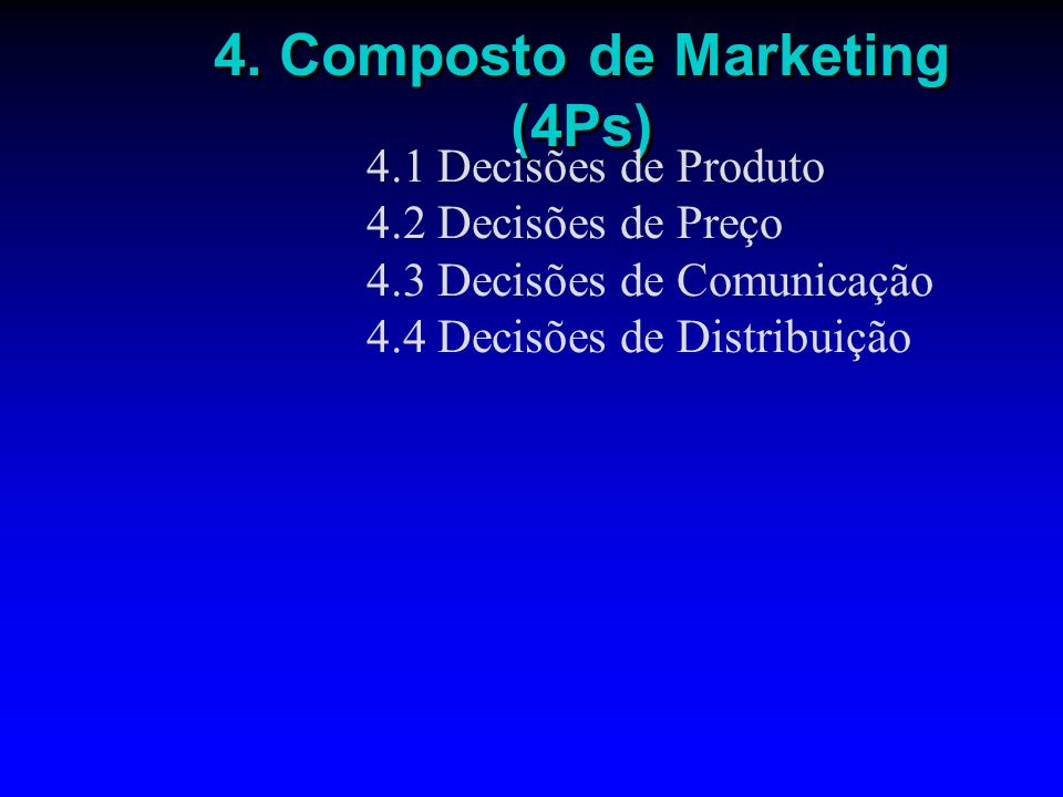 4. Composto de Marketing (4Ps)